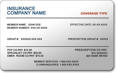 new patient insurance card